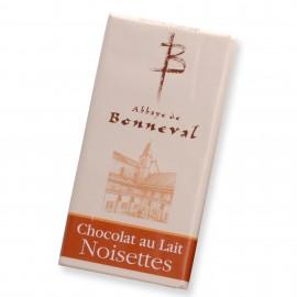 Chocolat au lait noisettes 100 g Abbaye de Bonneval