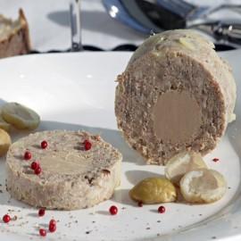 Galantine de châtaignes - 20% bloc de foie gras de canard LA DROSERA GOURMANDE