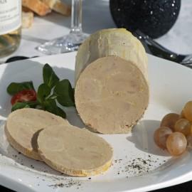 Bloc de foie gras de canard avec 30% de morceaux Origine France