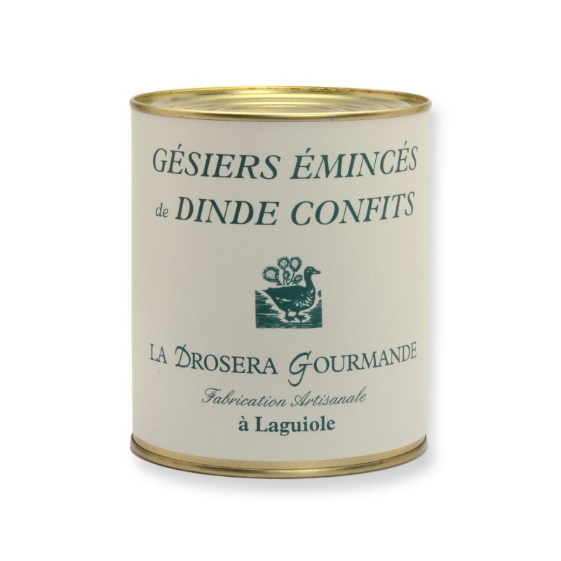 Gésiers émincés de dinde confits 765g Origine France