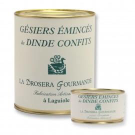 Gésiers émincés de dinde confits boites 190g et 756g Origine France