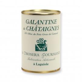 Galantine de châtaignes 400g avec 20% de bloc de foie gras de canard