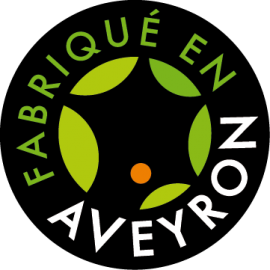 Cou d'oie farci 10% de foie gras de canard fabriqué en Aveyron