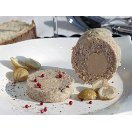 Galantine de châtaignes avec 20% de bloc de foie gras de canard