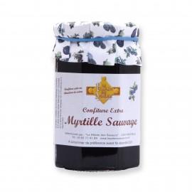 Confiture extra myrtille sauvage 370 gr
