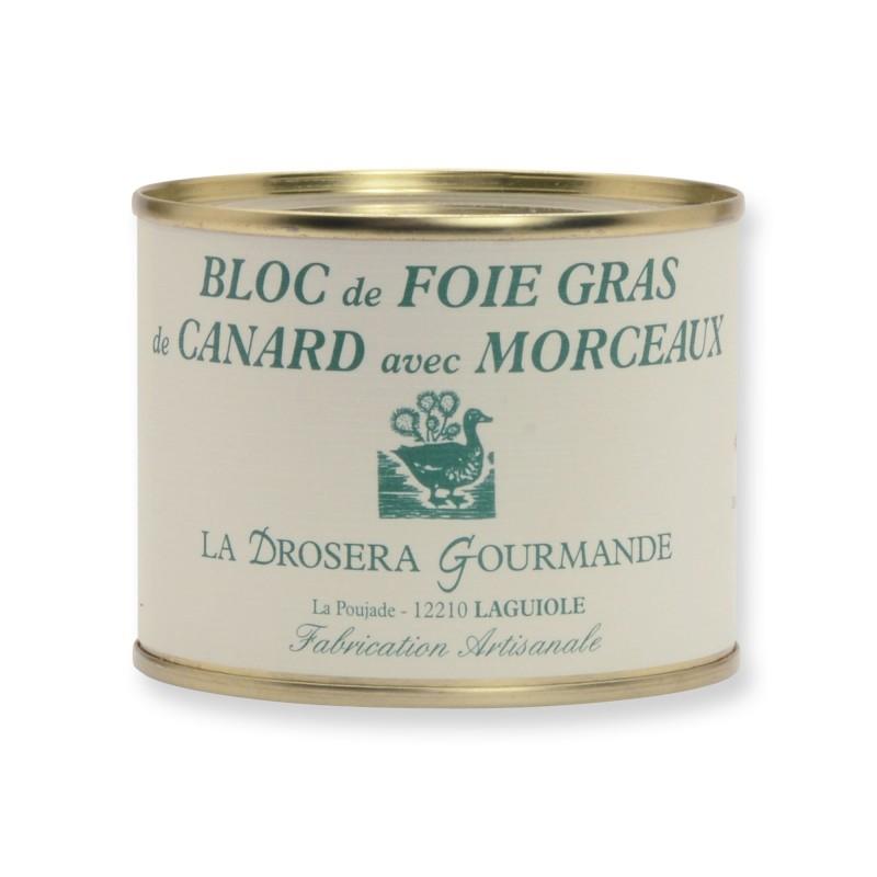 Bloc de foie gras de canard avec 30% de morceaux Fabrication artisanale Origine France