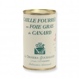 Caille fourrée au foie gras de canard 190 g LA DROSERA GOURMANDE