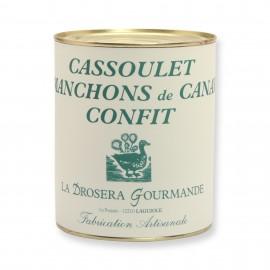 Cassoulet manchons de canard confit LA DROSERA GOURMANDE