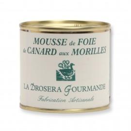 Mousse de foie de canard aux morilles 100 g LA DROSERA GOURMANDE