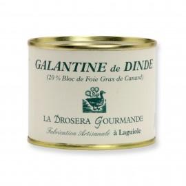 Galantine de dinde 190 g - 20% de bloc de foie gras de canard LA DROSERA GOURMANDE