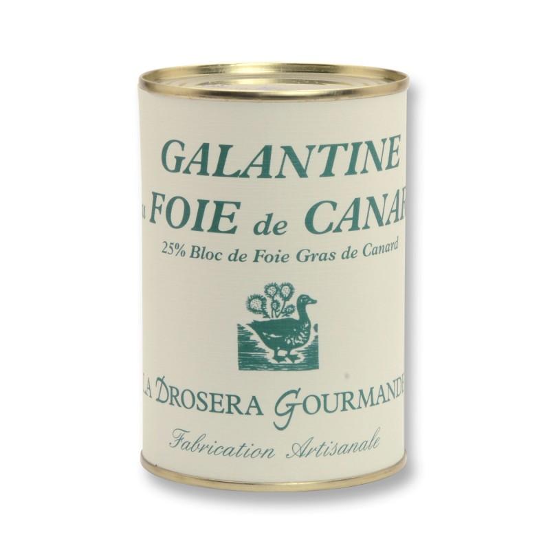 Galantine de foie de canard 400 g - 25% bloc de foie gras de canard LA DROSERA GOURMANDE