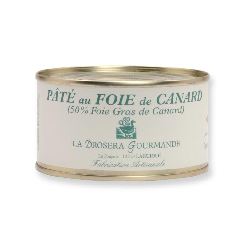 Pâté au foie de canard avec 50% de foie gras - 190 g LA DROSERA GOURMANDE