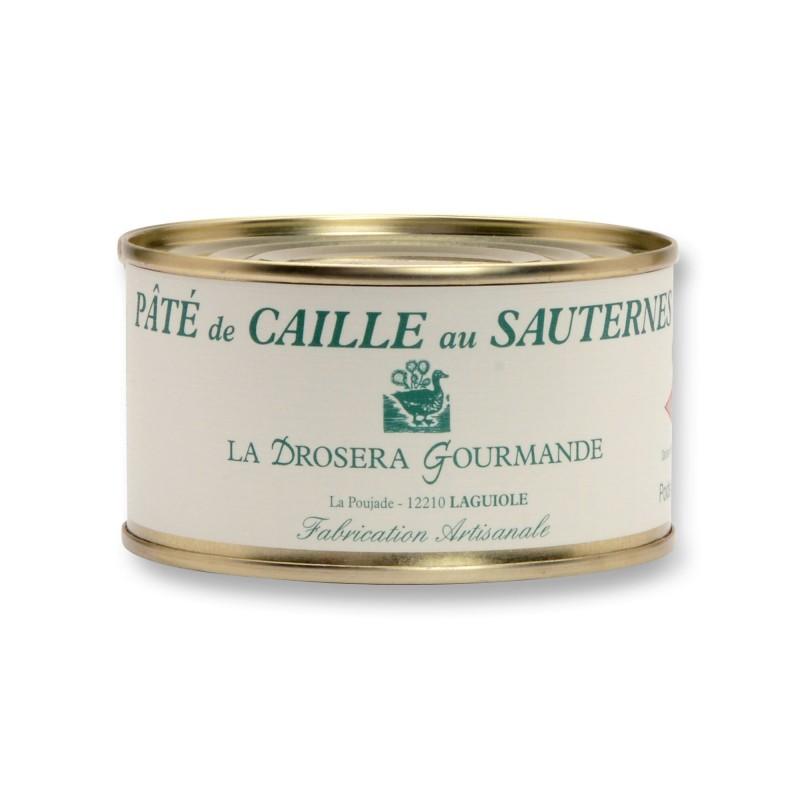 Pâté de caille au Sauternes 190 g LA DROSERA GOURMANDE