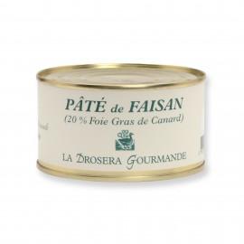 Pâté de faisan 190 g - 20% foie gras de canard LA DROSERA GOURMANDE