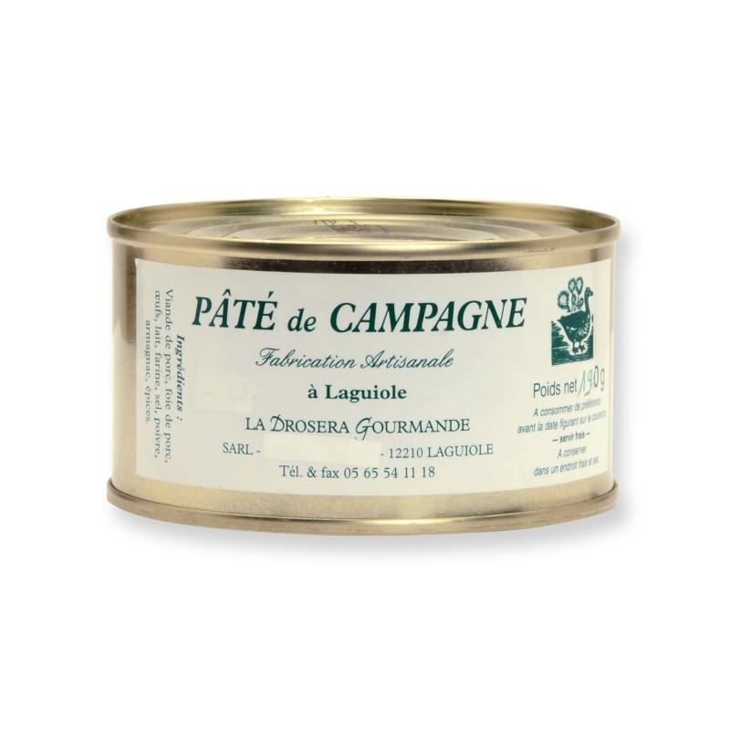 Pâté de campagne 190 g La Drosera Gourmande Fabriqué en Aveyron