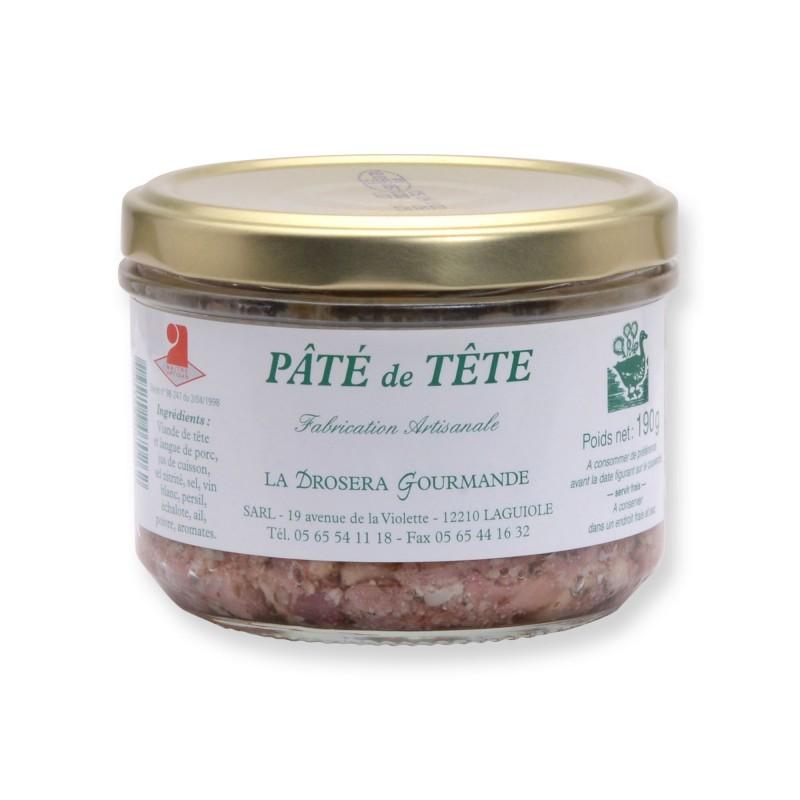 Pâté de tête pur porc 190 g LA DROSERA GOURMANDE