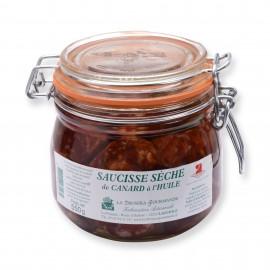 Saucisse sèche de canard à l'huile 550 g LA DROSERA GOURMANDE