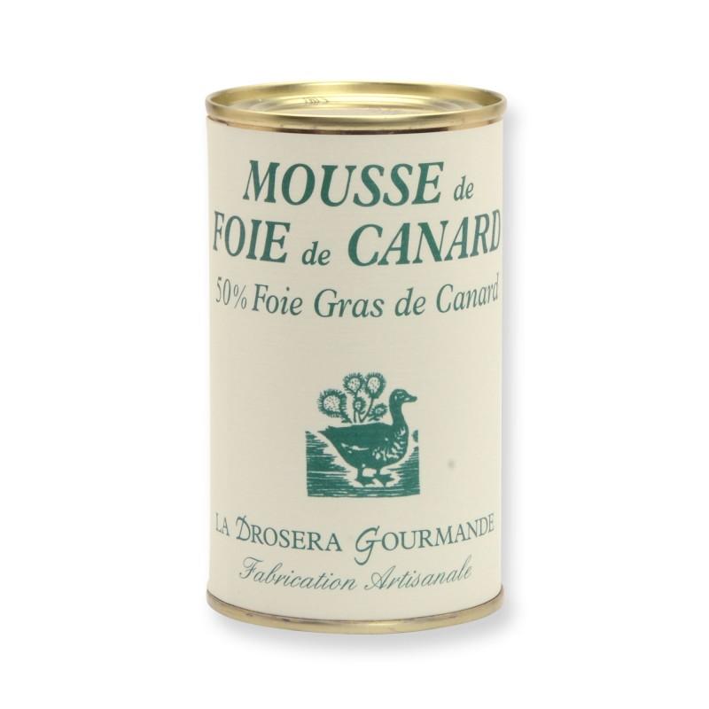 Mousse de foie de canard 200 g - 50 % foie gras de canard LA DROSERA GOURMANDE