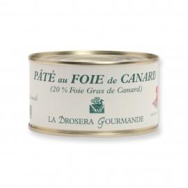 Pâté au foie de canard avec 20% de foie gras - 190 g LA DROSERA GOURMANDE